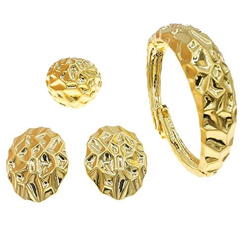 Yulaili di alta qualità in stile italiano ha posato un Set di gioielli alla moda d'oro Dubai di 18K (oro)
