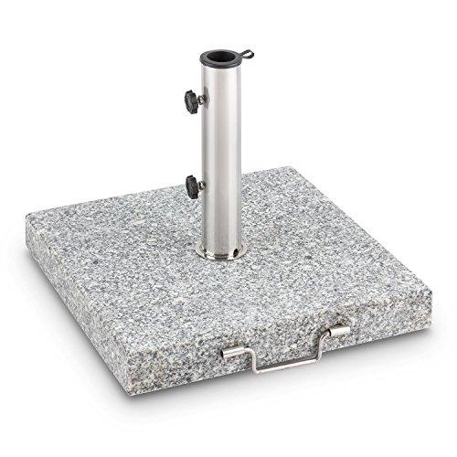 Blumfeldt Schirmherr 30RD Basamento Ombrellone 30 kg Granito Acciaio Tondo