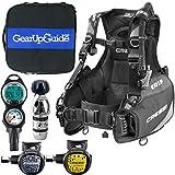 Cressi R1 BCD Leonardo Dive Computer AC2 Compact Regulator Set GupG Reg BagScuba Diving Package Grey Reg XS
