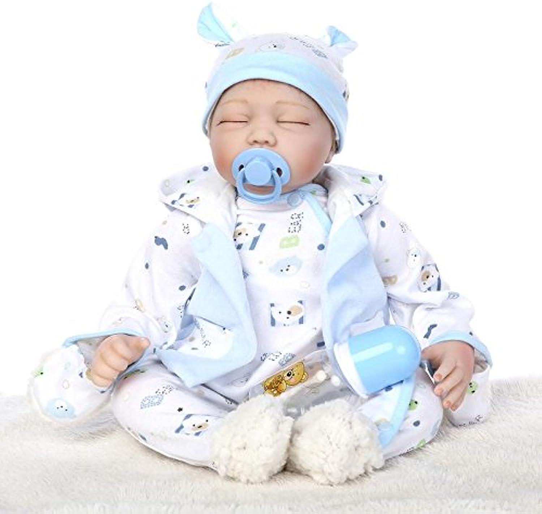 Ziyi UI 22inch 55cm Reborn Baby Dolls Handmade Newborn Baby Gifts Realistic Playmates Toys