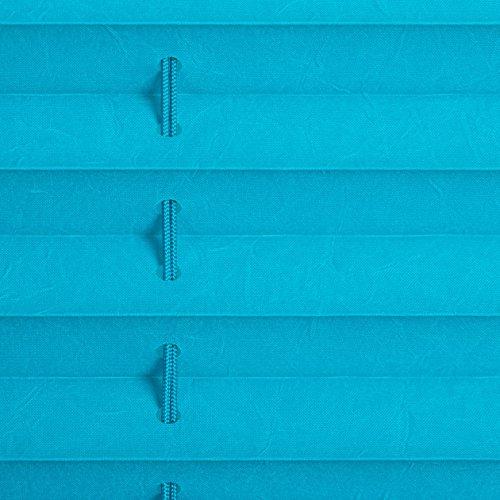 Lichtblick Plissee Klemmfix, 100 cm x 130 cm (B x L) in Blau, ohne Bohren, Sicht- und Sonnenschutz, lichtdurchlässig & blickdicht - 6