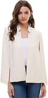 Alexander + David A+D Womens Woven Structured Cape Blazer Suit Jacket w/Pockets