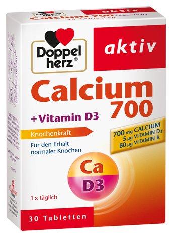 Doppelherz Calcium + D3, 3er Pack, 3 x 30 Tabletten