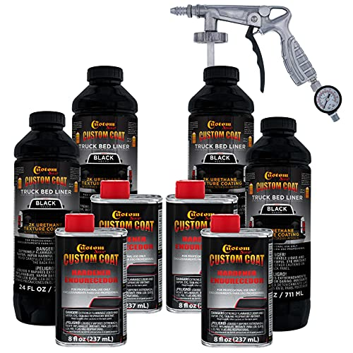 Custom Coat Black Urethane Spray-On Truck Bed Liner Kit