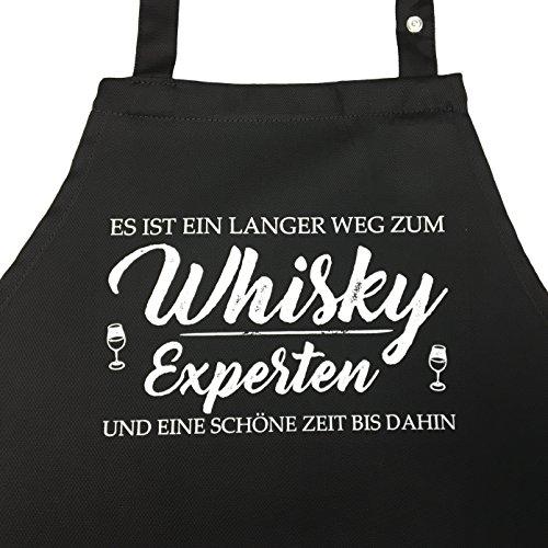 Grillschürze für den Whiskyliebhaber - Es ist EIN Langer Weg zum Whisky Experten und eine schöne Zeit bis dahin - Geschenk, Geschenkidee Whisky (Whisky Experte, OneSize)