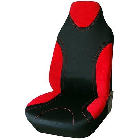 Sue Supply Sitzbezüge Für Auto Einzelsitzbezug Vordere Schonbezüge Sitzbezug Universal Sitzbezug Schonbezug Autositz Grau Blau Rot Gelb Rot Auto