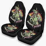 Ainiteey - Protectores de asiento de coche para Halloween, diseño de unicornio, universal, apto para coches, fácil de poner en el asiento, color blanco