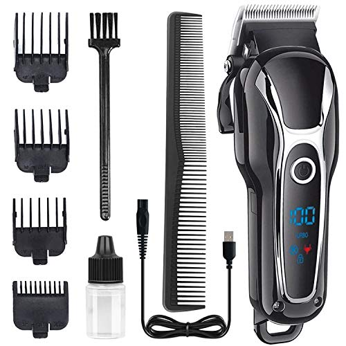 Hair Clippers for Men-Electric Hair Trimmer Haircut & Grooming Kit-Professional Men's Hair Trimmer with Fine Adjustment LED Display