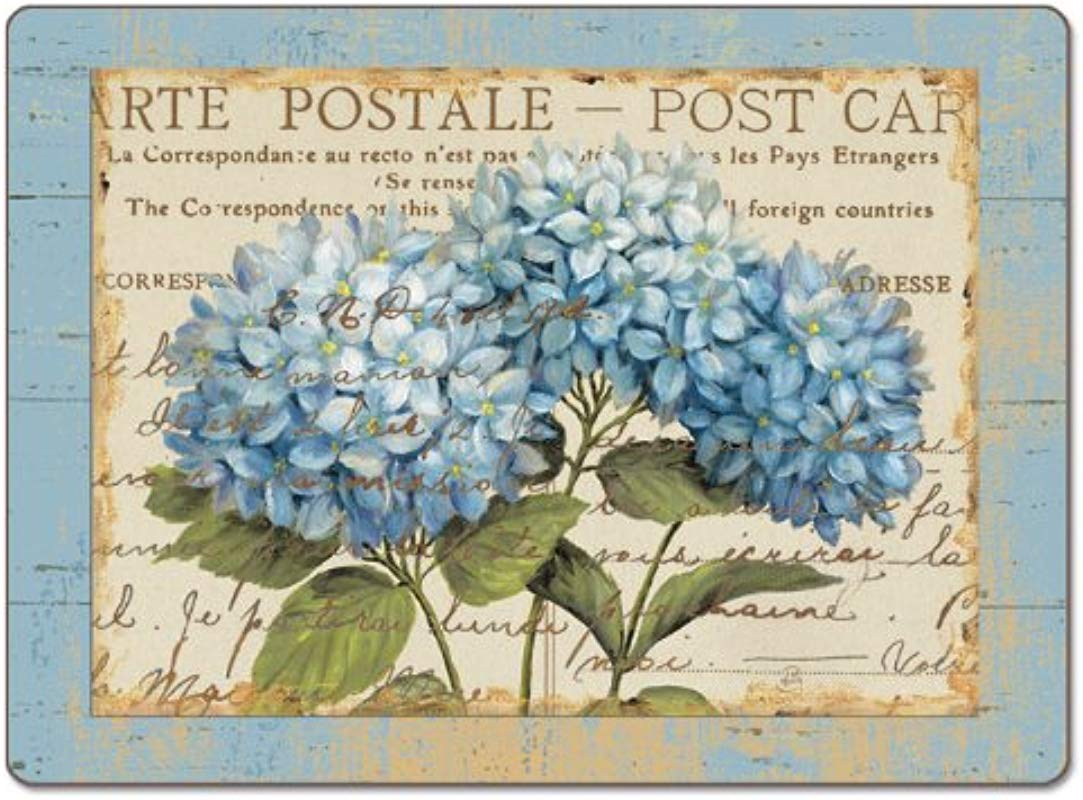 Counterart Blue Hydrangeas Hardboard Placemat Set Of 2