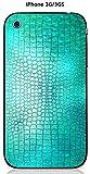 Onozo Coque Apple iPhone 3G / 3GS Design Cuir Bleu