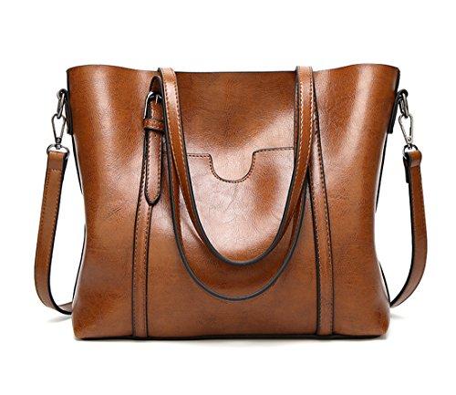 Bolso de gran capara mujer color marrón