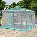 HYLH Garden Mosquito Cover Umbrella Canopy Outdoor Patio Table Polyester Netting Screen/Garden Screen for Gazebos Parasols