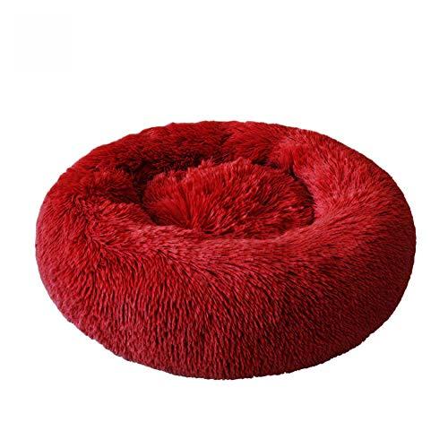 KSITH Kattenbed voor huisdieren, comfortabel, voor honden, katten, chenil, wasbaar, zacht, warm, voor huisdieren, honden, bed, rond, huis, lang, pluche, 100CM, J