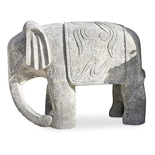 Escultura elefante piedra de avola Elephant Avola Stone Sculpture H 40 cm