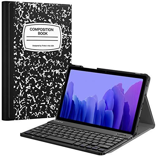 Fintie Funda con teclado para Samsung Galaxy Tab A7 10.4 pulgadas modelo 2020 (SM-T500/T505/T507), cubierta delgada y ligera con teclado Bluetooth inalámbrico desmontable magnéticamente, composición