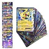 NOEARR 100 Cartas Pokémon Cartas Flash de Pokémon 80EX+20GX (Inglés)