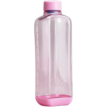 パール金属 水筒 1000ml 直飲み PCアクア ボトル ピンク ブロックスタイル H-6040