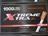 8800 Tubos tabaco liar con filtro extra largo Xtreme Xtra 24mm (ocho cajas de 1000+100)