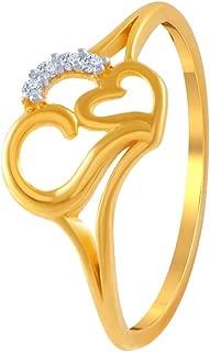 P.C. Chandra Jewellers 14k (585) Yellow Gold and American Diamond Ring for Women