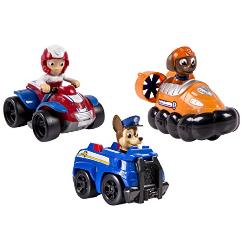 Spin Master Paw Patrol Mission Cruiser AUTOBUS, (6035961) + Paw Patrol – Racers Team Pack – Chase, Zuma & Ryder – Set 3 Mini Vehículos al Rescate La Patrulla Canina