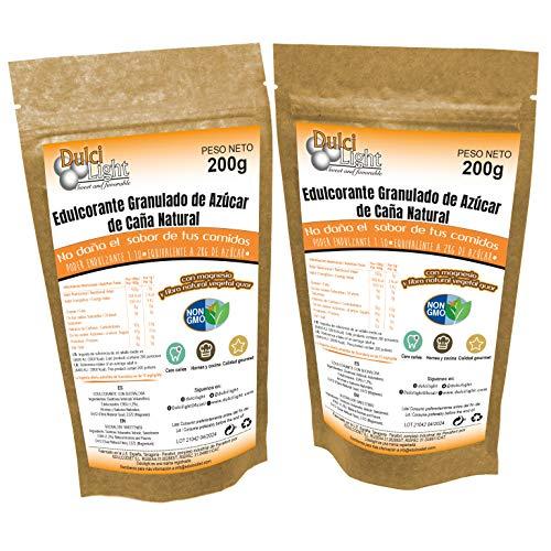 Sucralosa Ecologica Natural Edulcorante granulado Dulcilight Sucralosa Pack 2 doypack 400 gr= 4kg. 1:10 Producto SABOR Y CALIDAD PREMIUM