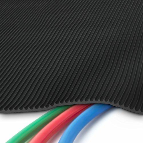 etm® Profi Kabelschutzmatte | 50 cm x 10 m | effektive Kabelbrücke aus flexiblem Feinriefen SBR-Gummi | Kabelmatte mit 3 mm Stärke | Schwarz