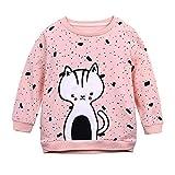 K-youth Ropa Bebe Niña para 6 Meses a 5 Años Niños Niñas Ropa De Invierno Recién Nacido Sudadera para niña Camiseta de Manga Larga Niñas Blusas y Camisas Niña Tops(Rosa, 6-12 Meses)