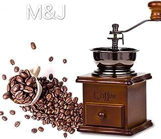 مطحنة القهوة اليدوية إم آند جيه GCG9318 مطحنة القهوة اليدوية الحرفية مع إعدادات طحن ودرج الإمساك 4.4 × 4.4 × 7.5 بوصة