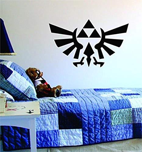 Triforce Zelda Original Wandtattoo Vinyl Kunst Schlafzimmer Wohnzimmer Dekoration Dekorationen Teen Zitate Inspirierend Junge Mädchen Spiel Spiele Videospiele Retro Old School Controller Cool Link
