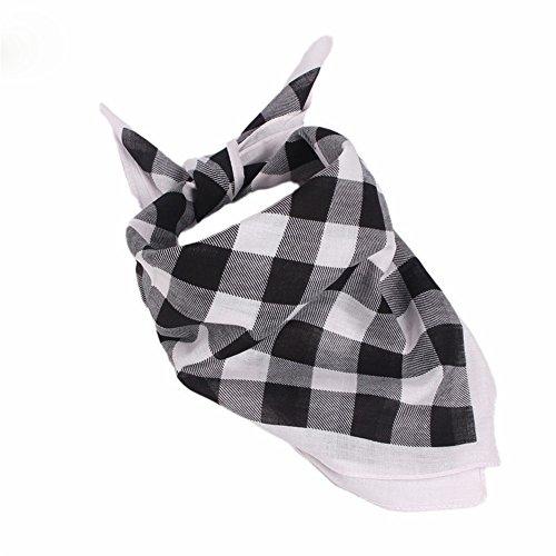 MultiKing haarband turbanaccessoires hoofdband katoen veelzijdig geruit rood en zwart vierkante sjaal multifunctionele doek outdoor sport in voortdurend wisselende halsdoek wit