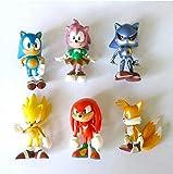 Modelo de Personajes de Anime Mdcgok Sonic Boy Super Sonic Mouse PSP Juego 6 unids / Set Sonic Figur...