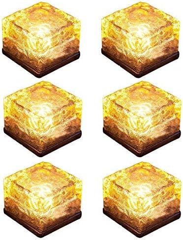 Solar Brick Lights Ice Cube Light Lamp Frosted 2 8x2 8 Size LED Landscape Light Buried Light product image