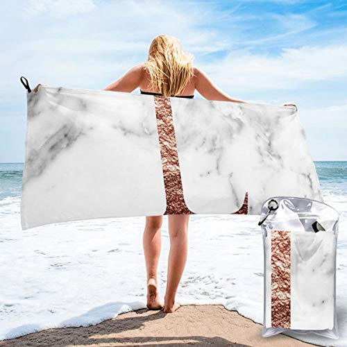 N/F Monogram Rose Marble L Bath Towels Large Bath Towel Set Super Absorbent And Fast Drying For Bathroom And Beach 2 Sizes Personalized