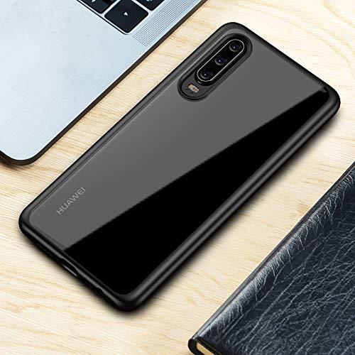 Joyguard Huawei P30 Hülle [Premium TPU + PC] [Hybrid Transparent] [Shock Proof] [Anti-Kratzer] [Ultra Slim] Huawei P30 Hülle Transparent – Schwarz - 7