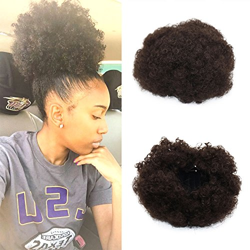 Synthetic Curly Wave Hair Clip In Ponytail Short Afro Kinky Curly Wrap...