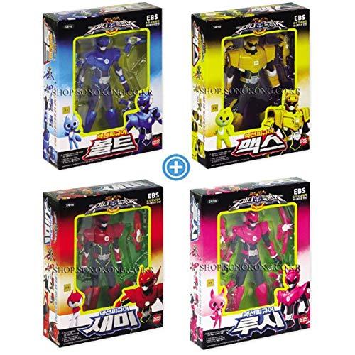 MINI FORCE Bolt+Max+Semi+Lucy Set of 4 Korean Robot Action Figures Sonokong miniforce