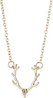 Best gold antler necklace Reviews