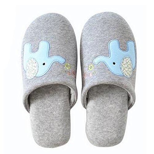Famille d'hiver et chaleureux Chaussures Indoor Couples Maison Cartoon Slipper, A