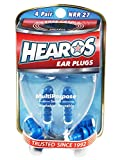 HEAROS Multi-Purpose Reusable Ear Plugs, 4 Pair, Free Case
