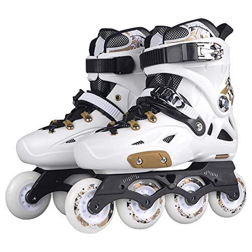 XJBHD Speed Skating Pattini in Linea per Adulti Carbonio Rollerblade Professionale Pattini a Rotelle Pattini Comodi Scarpe Ldeali per Principianti per Le Donne e Uomo Sport Outdoor Style 1-39