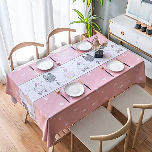 JIALIANG Tischdecke PVC Hotel Kunststoff Tischdecke Haushalt wasserdicht und ölbeständig waschbar Verbrühungsschutz Innen-/Außen-/Küchen-/Gartentischdecken,60x120cm