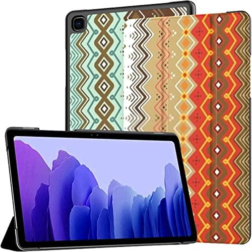 Estuche para Samsung A7 2020 Elementos geométricos étnicos Dos ajustes Samsung Galaxy Tab A7 10.4 Pulgadas 2020 Compatible con Galaxy A7 Estuche Funda para Tableta Funda de Cuero PU