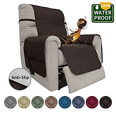 Easy-Going Sofa Slipcover Recliner Cover Waterproof Couch Cover Furniture Protector Sofa Cover Pets Covers Whole Fabric No Stitching Non-Slip Fabric Pets Kids Children Dog Cat