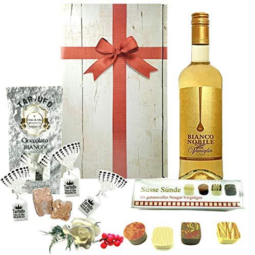 """♥ Es gibt kaum ein schöneres Dankeschön als den Geschenkkorb """"Vielen Dank"""" mit Schokolade und Weißwein"""
