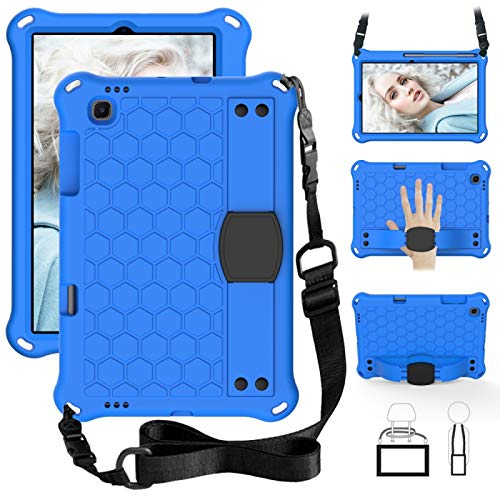YAOLAN Funda Protectora para Tablet For la lengüeta Sansung S6 Lite P610 Honeycomb Diseño EVA + PC Material de Cuatro Esquinas Anti caída de Plano de protección Shell con Correa (+ Negro Negro)