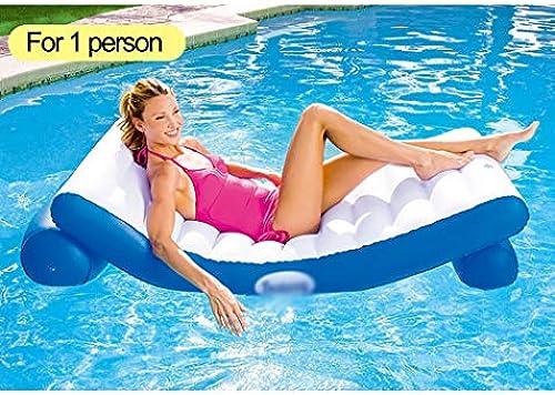QJJML Aufblasbares Schwimmendes Bett, Schwimmendes Bett des Schwimmbades, Aufblasbare Spielwaren des FrüHen FrüHlinges Und des Sommers Im Freien Erwachsene Und Kinderwasserunterhaltungsstuhl,F