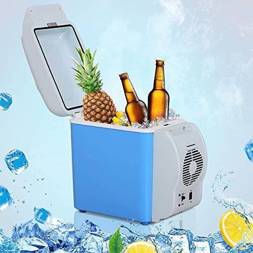 LBWNB Auto Mini-Kühlschränke, Bierkasten Warmhaltebox 7.5L Kühlbox Getränkekühlschrank Für Road Trip, Picknick, Camping