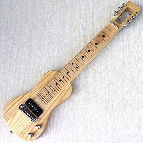 CHENTAOMAYAN ausgezeichnete Verarbeitung, Amerikanische Sumpfesche Körper Mini-E-Gitarre Hals über Hawaii-Gitarre 34-Zoll-6-saitige Fretless mit Bund Linie Minigitarre Fachmann