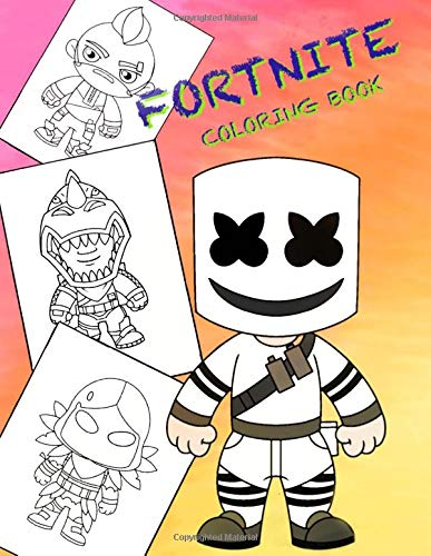 FORTNITE COLORING Book: All Heroes and some Weapons FORTNITE Battle Royal, 60 Illustrations (Unofficial Book)