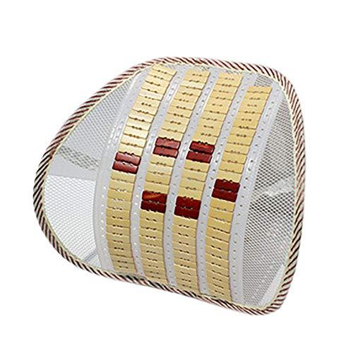 KCCCC Soporte Lumbar del Amortiguador de Espuma de Memoria Medida de la Cintura del cojín del Coche de Verano de bambú Posterior Lumbar Transpirable Cintura Coche de la Ayuda Coche